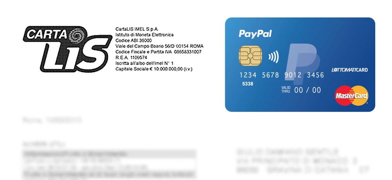 Estratto conto della prepagata PayPal