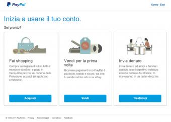 Aprire un conto PayPal